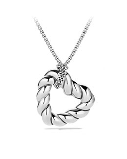 David Yurman Cable Heart Pendant on Chain