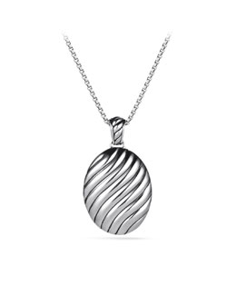 David Yurman Sculpted Cable Locket Charm