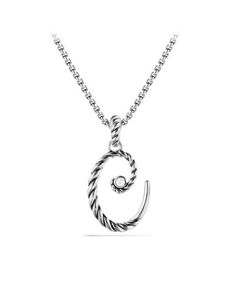 """C"" Charm with Diamond"