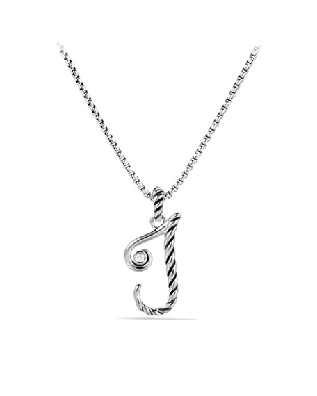 """J"" Charm with Diamond"