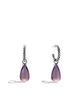 David Yurman Color Classics Bead Drop Earrings with Lavender Moon Quartz