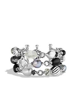 David Yurman Bead Three-Row Bracelet