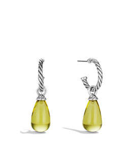 David Yurman Color Classics Bead Drop Earrings with Lemon Citrine