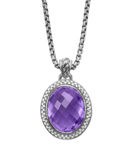 Signature Oval Pendant, Amethyst, 22x18mm