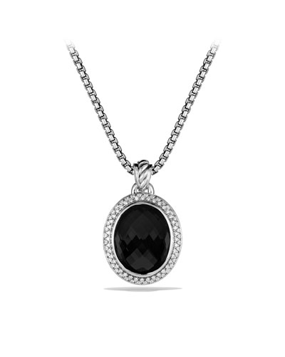 David Yurman DY Signature Oval Pendant with Black Onyx and Diamonds