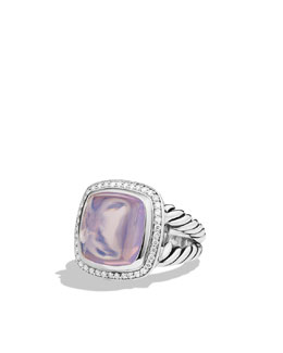 David Yurman Albion Ring with Lavender Moon Quartz and Diamonds