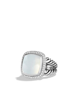David Yurman Albion Ring with Moon Quartz and Diamonds
