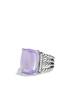 David Yurman Wheaton Ring with Lavender Moon Quartz and Diamonds