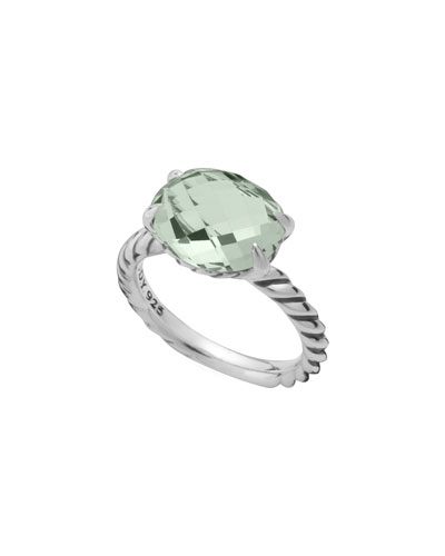David Yurman Color Classics Ring, Prasiolite, 12x10mm