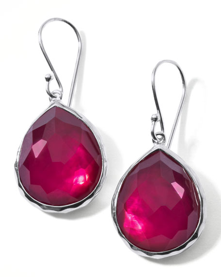 Raspberry Doublet Drop Earrings, Mini