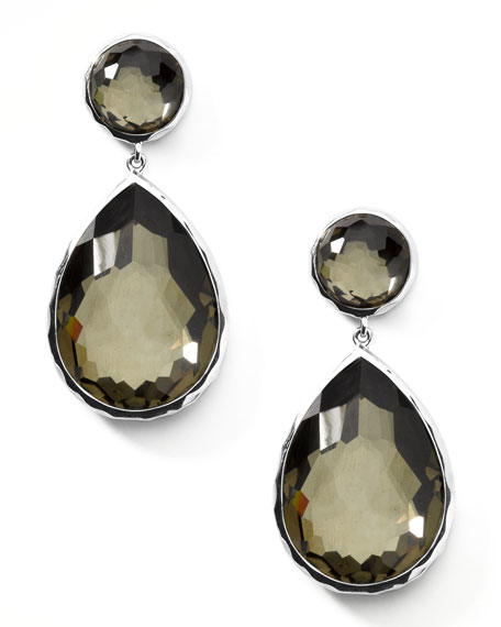 Pyrite Teardrop Post Earrings