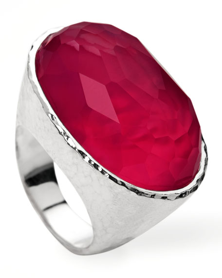 Wonderland Oval Ring, Raspberry