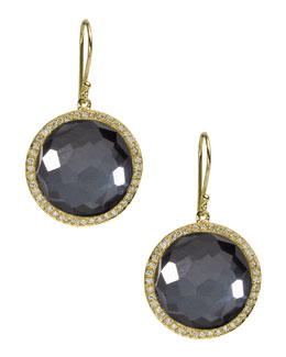 Ippolita Diamond & Hematite Lollipop Earrings