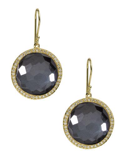 Ippolita Diamond & Hematite Lollipop Earrings
