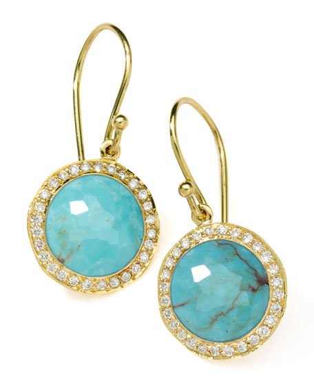 Ippolita 18k Mini Lollipop Earrings in Turquoise with