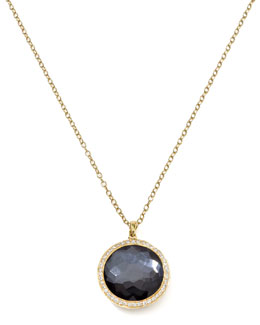 Ippolita Diamond & Hematite Lollipop Pendant Necklace