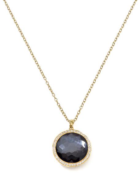 Diamond & Hematite Lollipop Pendant Necklace