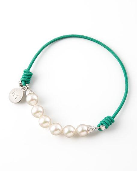 Elastic Pearl Bracelet, Green