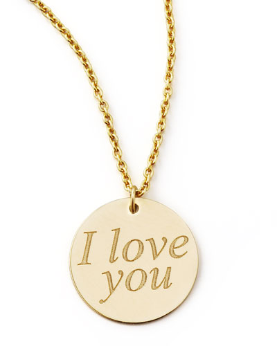 Yellow Gold I Love You Necklace