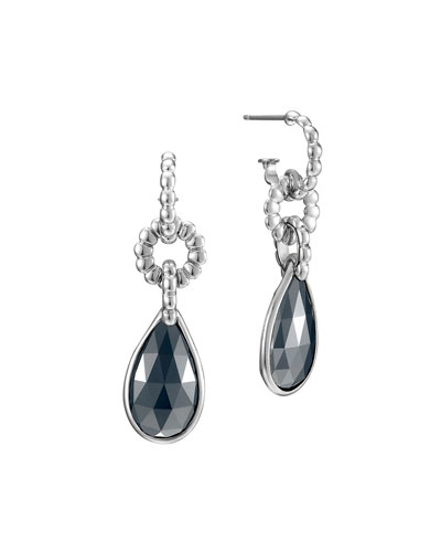 John Hardy Bedeg Hematite Drop Earrings