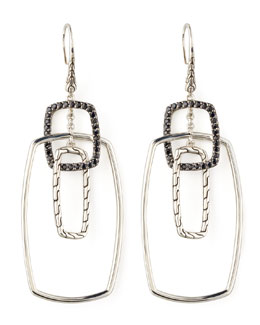 John Hardy Classic Chain Rectangular Drop Earrings