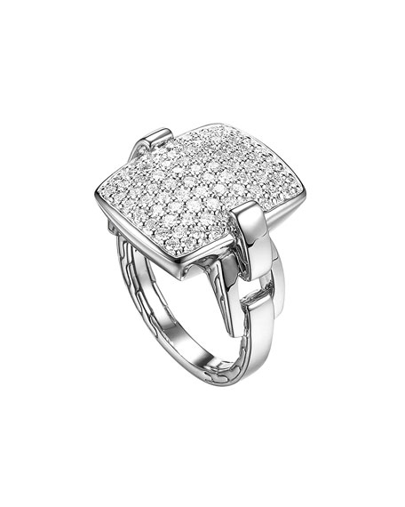 RECTANGULAR RING W DIAMOND