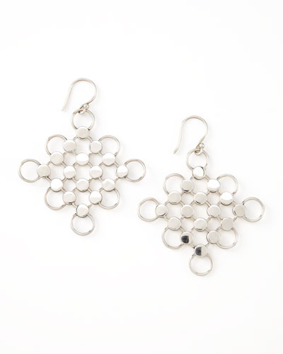 John Hardy Dot Diagonal Square-Drop Earrings