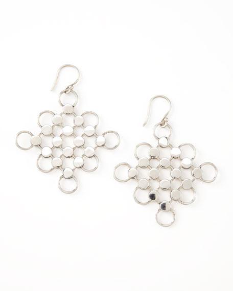 Dot Diagonal Square-Drop Earrings