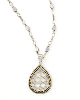 John Hardy Dot Teardrop Pendant Necklace