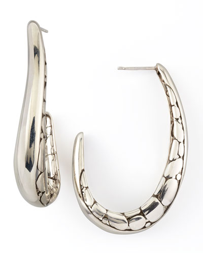John Hardy Kali Hoop Earrings, Medium