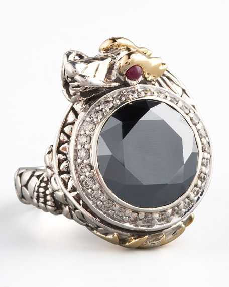 Hematite Dragon Ring, Small