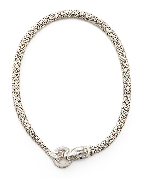 Diamond-Ring Naga Dragon Necklace