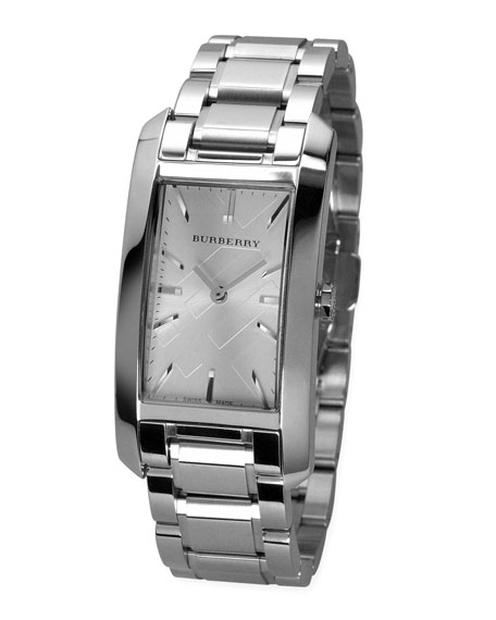 Stainless Steel Rectangular Watch