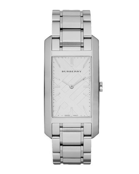 Stainless Steel Rectangular Watch