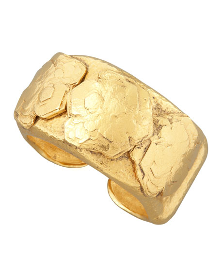 Jose & Maria Barrera WIDE GOLD NUGGET BANGLE