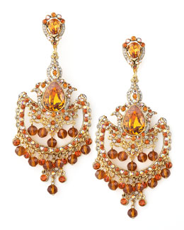Jose & Maria Barrera Topaz-Colored Drop Earrings