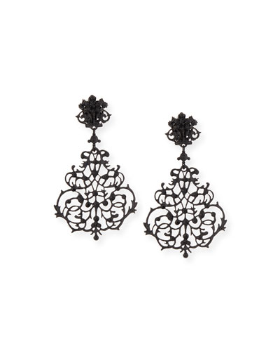 Lace Scroll Chandelier Earrings