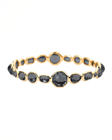 Gold Gelato Bangle, Hematite