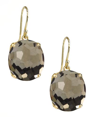 Rock Candy Gelato Earrings, Pyrite