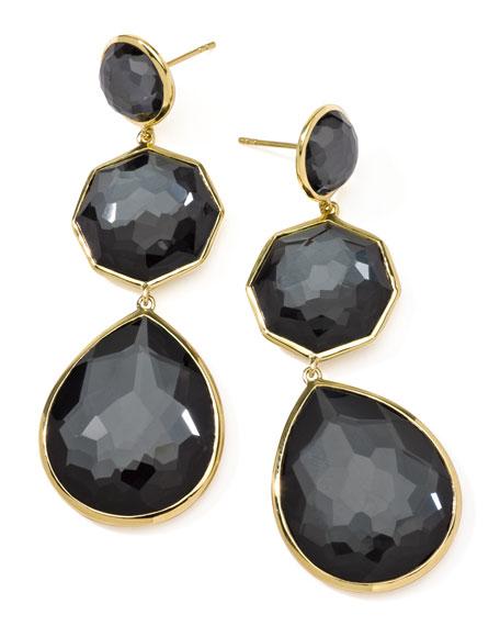 Hematite Crazy-Eight Earrings