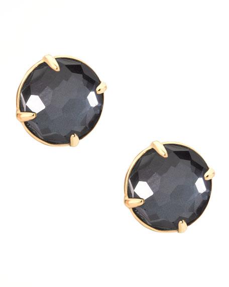 Hematite Gelato Stud Earrings