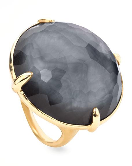 Round Hematite Gelato Ring