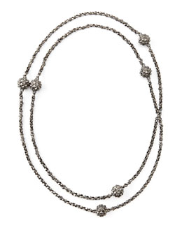 "Stephen Webster Superstud Ball-Station Necklace, 48""L"