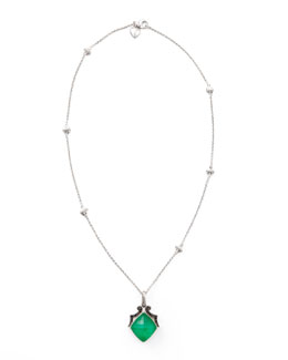 Stephen Webster Crystal Haze Pendant Necklace, Green