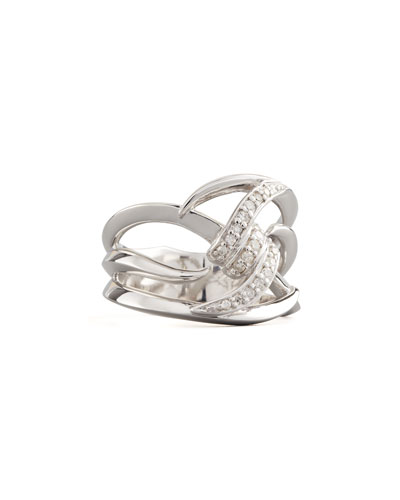 Stephen Webster Single Diamond Knot Band