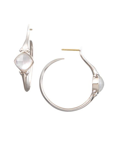 Crystal Superstud Hoop Earrings, Small