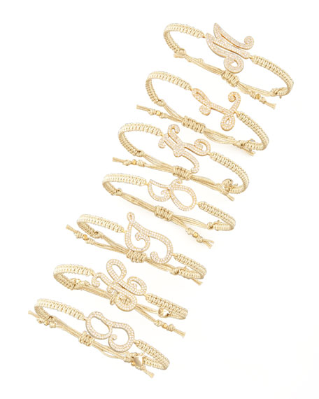 Tai Pave Initial Bracelet, Golden