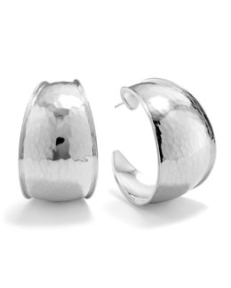 Ippolita Hammered Silver Goddess Hoop Earrings, Large