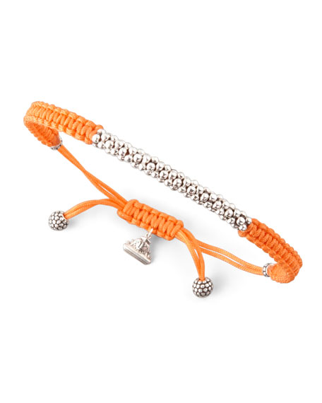 Macrame Caviar Bracelet, Orange