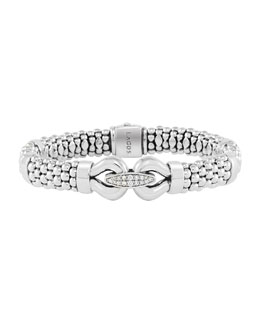 Lagos Derby Pave Diamond Rope Bracelet, 9mm
